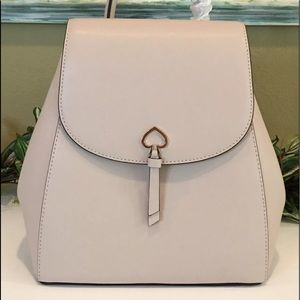 Kate spade adel backpack medium flap beige leather • firm price Holiday Shop •